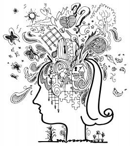 Woman profile: confusion